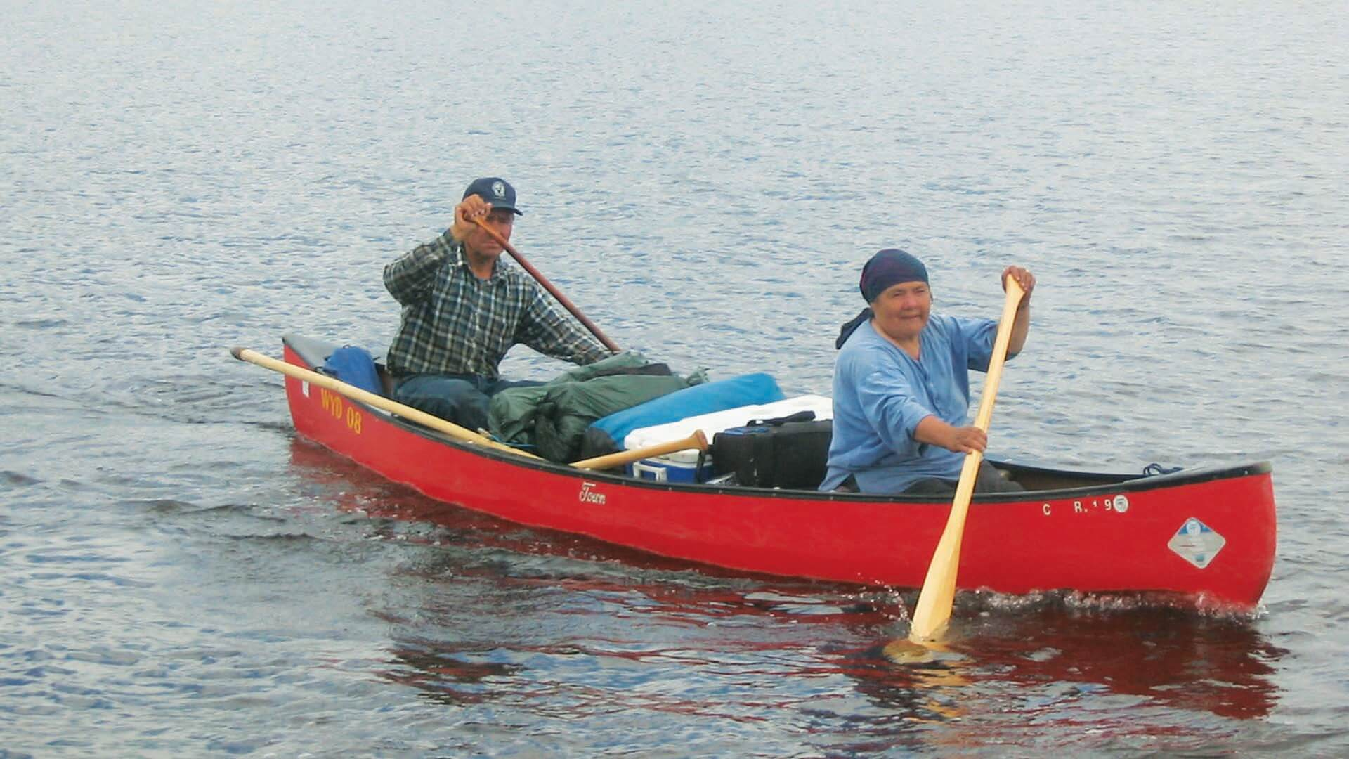 Luke and Gerti Diamond canoe